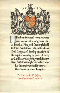 Commemorative Scroll