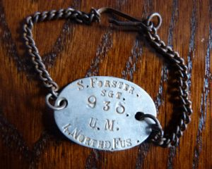 Sgt S Forster's dog tags