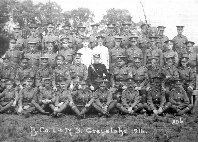 Richard Catherall Bell (centre row, 2nd from left - Porthmadog Annual Camp (Courtesy - David Alden 2006)